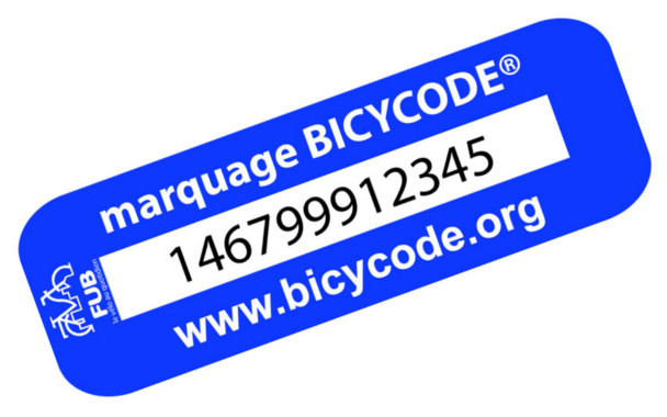 Image montrant le marquage Bicycode