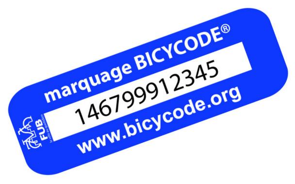 Image montrant le marquage Bicycode