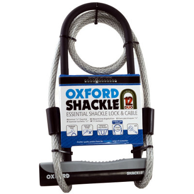 Combiné Shackle12 DUO U-Lock & 1200mm Lockmate Oxford