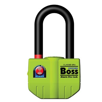 Cadenas Boss Alarm disc lock- 14mm Yellow Oxford