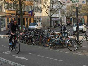 Stationnement vélo à Strasbourg