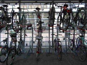 vélos stationnés en sécurité à Nantes