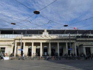 L'entrée de la Gare de Montpellier Saint-Roch
