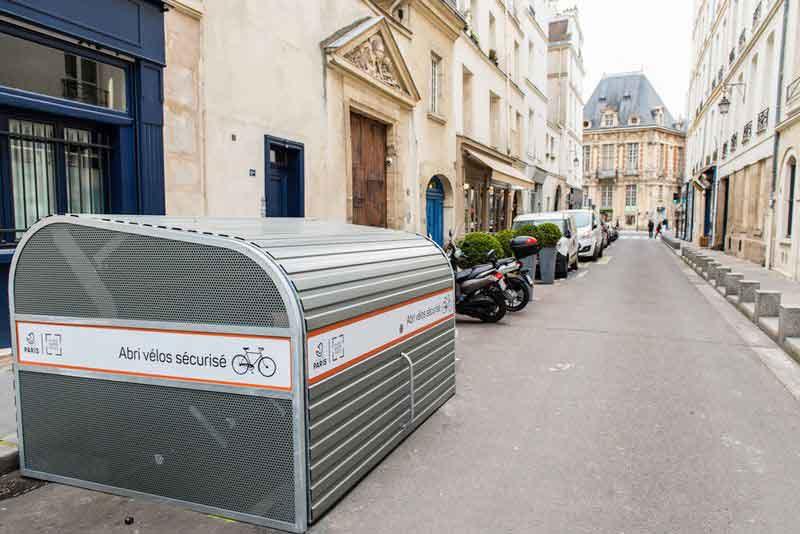 Des abris à vélo sécurisés en expérimentation dans le 4ème arrondissement de Paris
